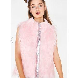 Dolls Kill Club Exx Aurora Beam Vest WORN ONCE